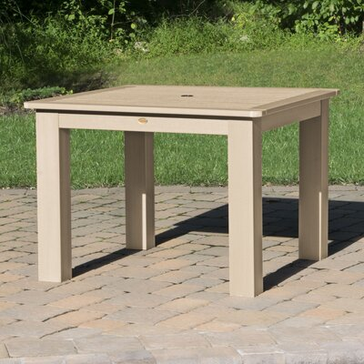 Theobald Plasticresin Dining Table Darby Home Co Color Tuscan Taupe