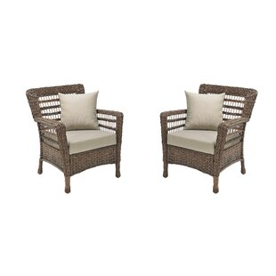 Boyles Patio Chair with Cushions (Set of 2)