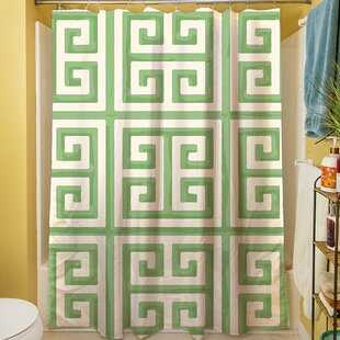 Greek Key II Single Shower Curtain
