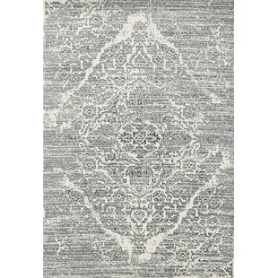 Joines Distressed Silver/White Area Rug By Ophelia & Co.