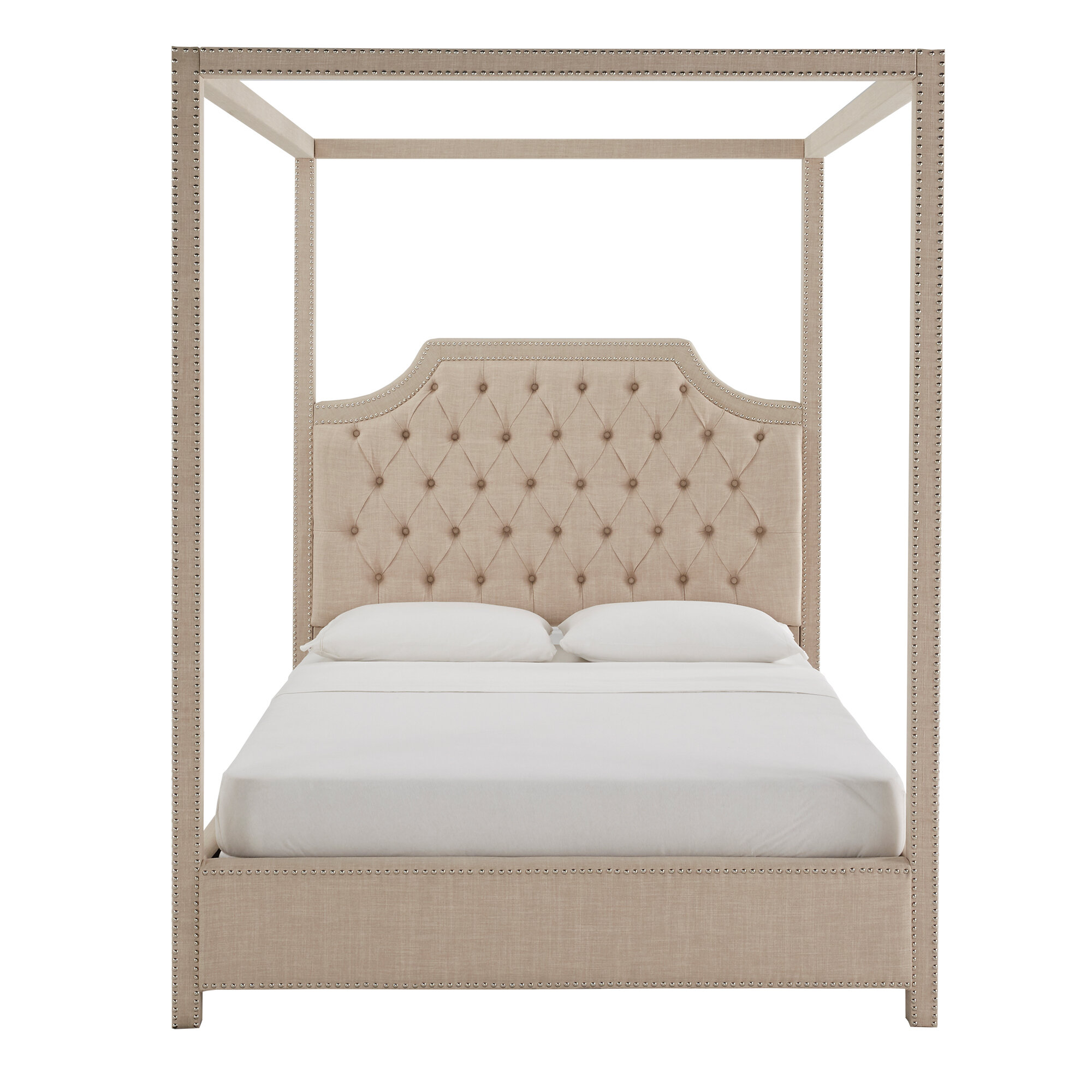 Canora Grey Doyle Upholstered Canopy Bed Reviews Wayfair