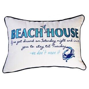 I Sea Life Beachouse Inspiration Cotton Throw Pillow