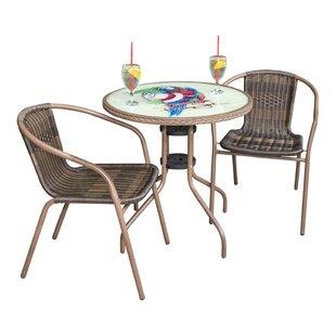Cafe Parrot 3 Piece Bistro Set