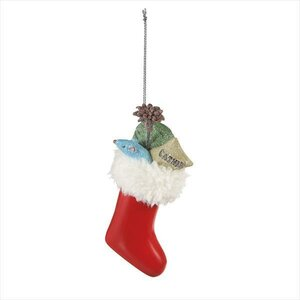 Stocking with Cat Gifts Hanging Figurine