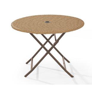 Mistana Brandy Folding Wicker Dining Table