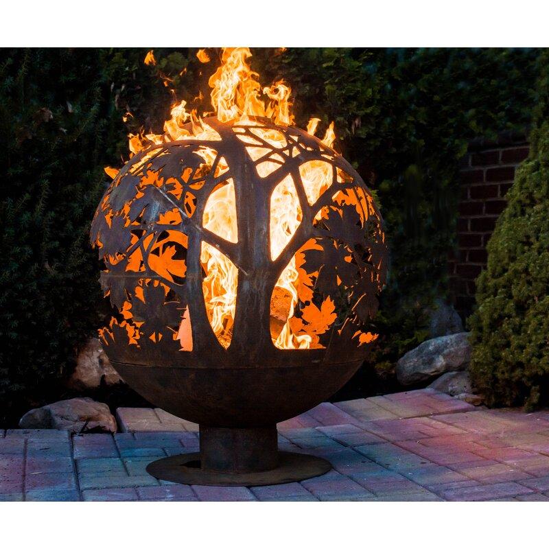Rosalind Wheeler Herbert Wood Burning Fire Pit Reviews Wayfair