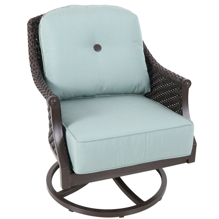 Pleasant Kanzler Swivel Patio Chair With Cushions Cjindustries Chair Design For Home Cjindustriesco