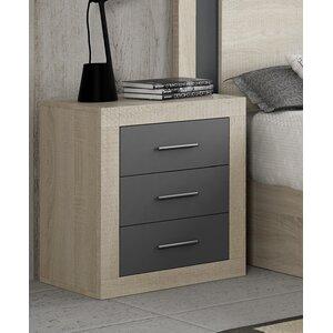 Nachttisch mit 3 Schubladen von Hokku Designs