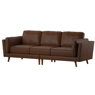 Marrufo Leather Sofa by Mercury Row