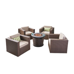 Olague Outdoor 4 Piece Multiple Chairs Seating Group with Cushions