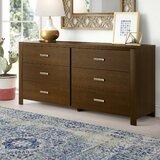 Gareth 6 Drawer Double Dresser by Mistana™