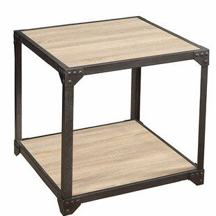 Ben Wood and Metal Loft End Table