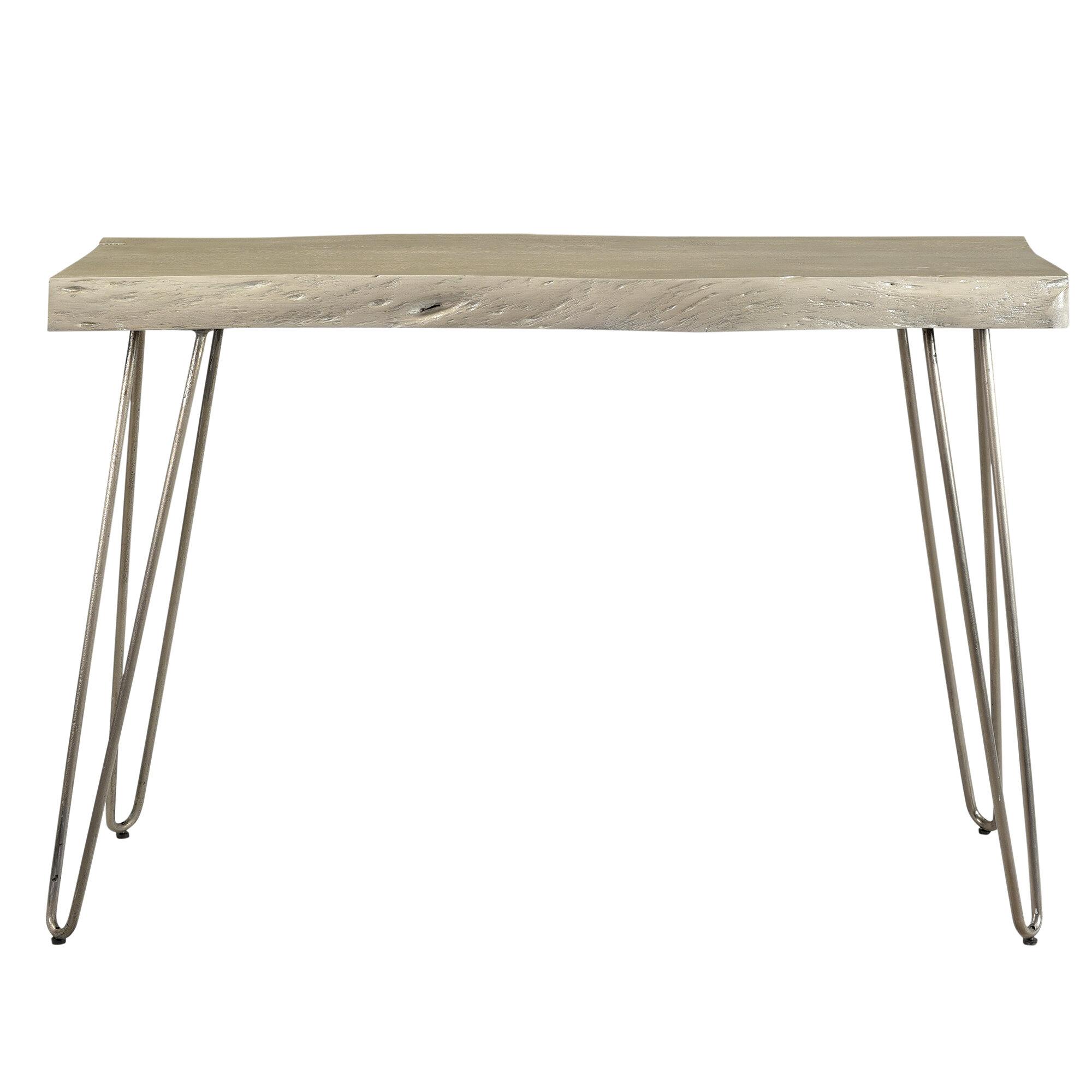 Spurlin acacia wood console table reviews allmodern
