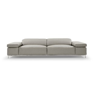 Bock Leather Sofa by Orren Ellis