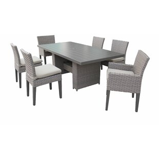 Monterey 7 Piece Outdoor Patio Dining Set with Cushions