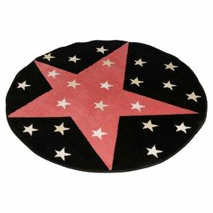Sizemore Glow Superstar in The Dark Black/Red Rug by Longweave