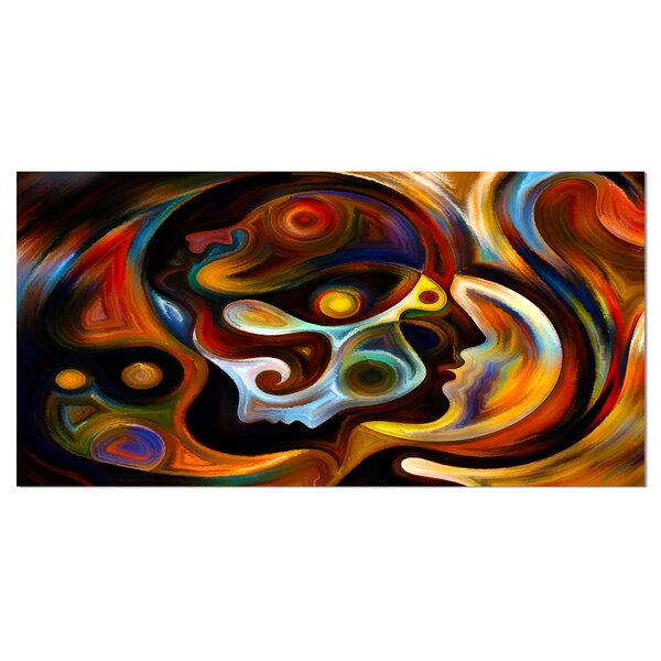 Perspectives of Inner Paint Abstract Psychedelic Wall Art