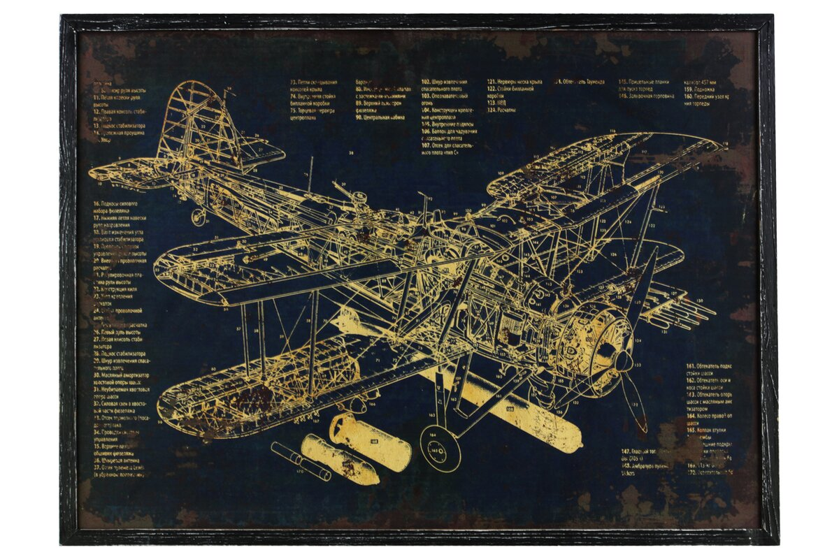 Urban trends aircraft blueprint framed graphic art print reviews aircraft blueprint framed graphic art print malvernweather Image collections