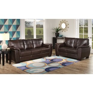 Darby Home Co Lawley 2 Piece Leather Livi..