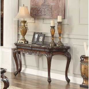 Brooklandville Traditional Engraved Console Table