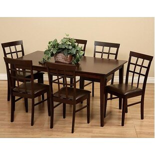 Justin 7 Piece Solid Wood Dining Set by W..