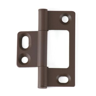 Solid Brass Non-Mortise Surface/Face Mount Hinge (Set of 2)