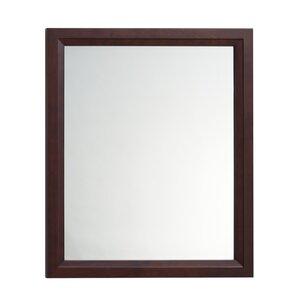 Wood Framed Bathroom Mirrors wood frame walnut mirror | wayfair