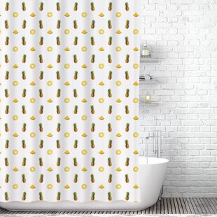 Pineapples Shower Curtain Liner by East Urban Home Find