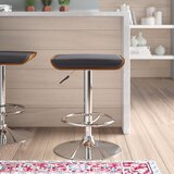 Canchola Swivel Adjustable Height Bar Stool by Wade Logan®