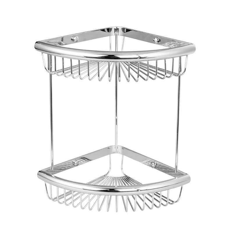 Rebrilliant Bilger Wall Mount Double Corner Wire Shower Caddy | Wayfair