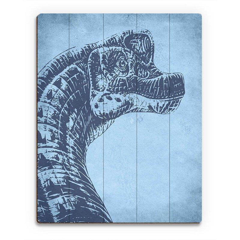 Click Wall Art Brachiosaurus Graphic Art On Plaque Wayfair