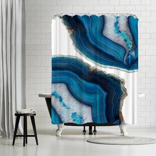Comparison Emanuela Carratoni Blue Agate Shower Curtain ByEast Urban Home