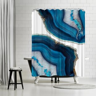 Emanuela Carratoni Blue Agate Single Shower Curtain