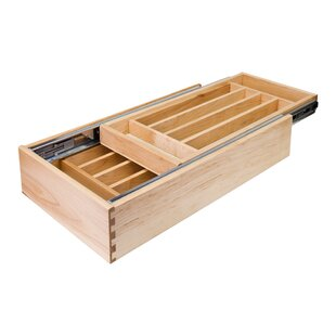 Double Cutlery 4.19H x 14.5W x 21D Drawer Organizer By Hardware Resources