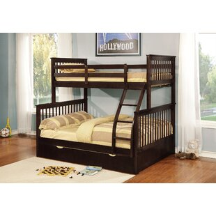 Best Reviews Auguste Twin Over Full Bunk Bed with Trundle By Harriet Bee