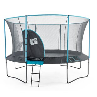 Genius 14' Round Trampoline With Safety Enclosure By TP Toys