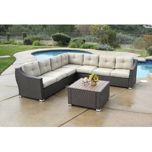Darby Home Co Ehlers 6 Piece Rattan Secti..