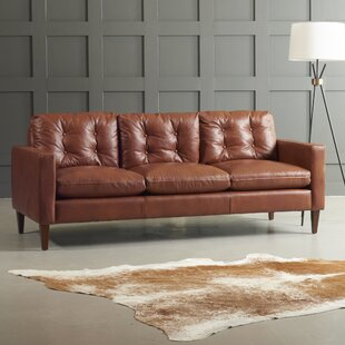 Down Filled Leather Sofa | Wayfair