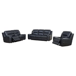 Pinegar Reclining 3 Piece Living Room Set by Latitude Run