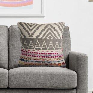 Debby Boho Geometric Cotton Throw Pillow