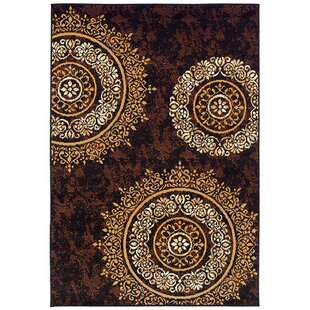 Markenfield Contemporary Modern Circles Brown/Beige Indoor/Outdoor Area Rug
