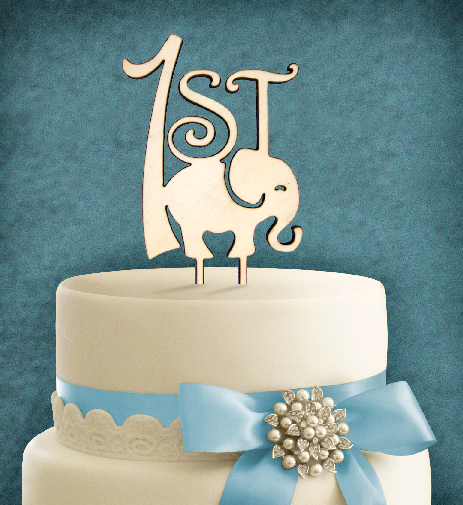 Tremendous Amonogramartunlimited 1St Birthday Elephant Cake Topper Wayfair Personalised Birthday Cards Arneslily Jamesorg