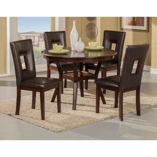 Gowins 5 Piece Solid Wood Dining Set