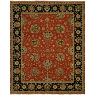 Best Deals Forbesganj Hand-Knotted Rust/Black Area Rug ByMeridian Rugmakers
