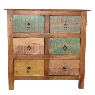 Honaker Old Fashioned Wooden 6 Drawer Accent Chest by World Menagerie