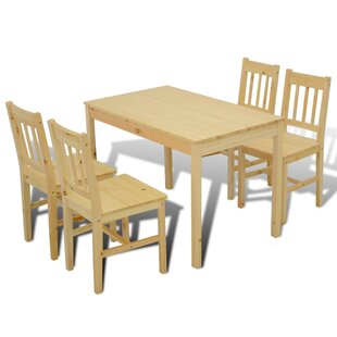 Folding Dining Set With 4 Chairs And One Bench By Home Etc
