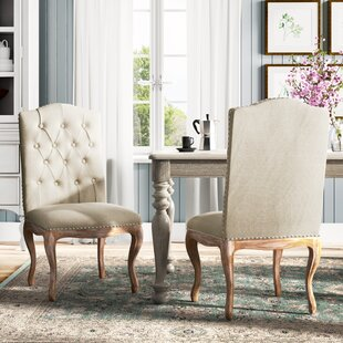 Bernadine Upholstered Dining Chair (Set of 2) Lark Manor