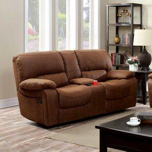 Whiteaker Motion Leather Sofa by Loon Peak