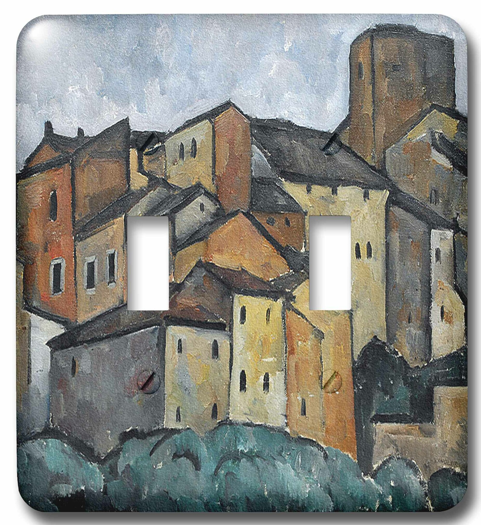 3drose 1913 San Gimignano Italy Painting By Alexander Kanoldt 2 Gang Toggle Light Switch Wall Plate Wayfair