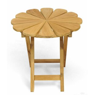 Veun Petals Folding Teak Side Table